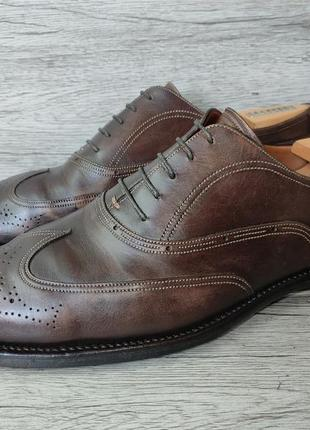 Bally 45p туфли мужские броги кожа швейцария