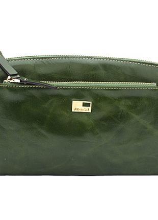 Зеленый кошелек-клатч