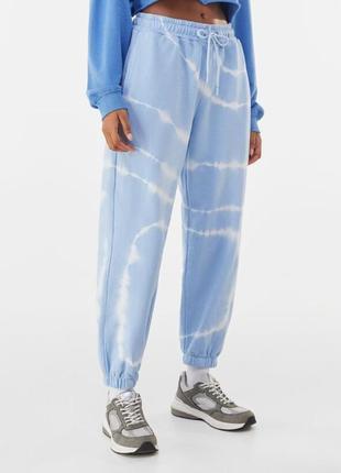 Джоггеры, спортивные штаны, штаны тай дай, штанв с манжетами