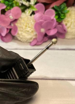 Фреза алмазная шар 5 мм для аппаратного маникюра