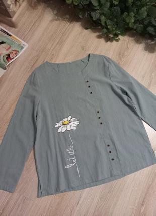 Свободная лёгкая блузка рубашка кофточка