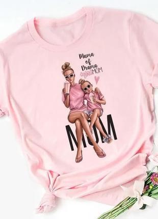 Стильная модная молодежная женская футболка в стиле family look