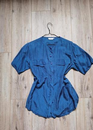 100% шелковая удлиненная рубашка италия
