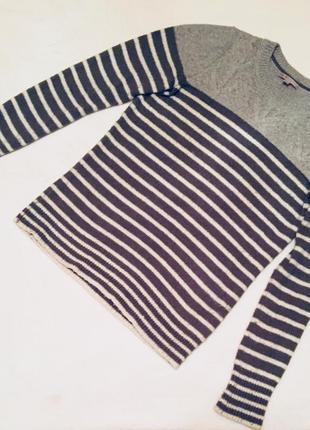 Очень мягкий свитер/джемпер в полоску размер м gap