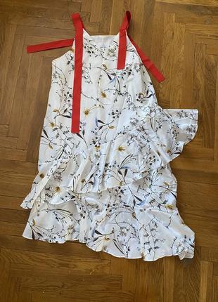 Платье летнее. шикарный сарафан с воланами.