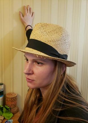 Шляпка соломенная 56 см