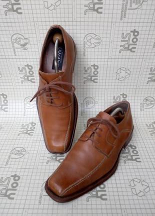 Ermano светло-коричневые туфли кожа 44 размер 28,5 см