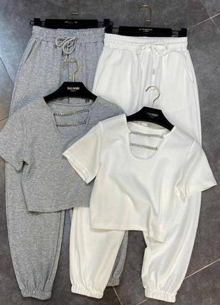 Костюм футболка и штаны джогеры