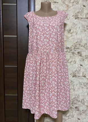 Милое натуральное платье в принт,пудра dresses yessica