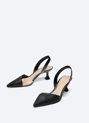 Виниловые туфли, слингбэки.,босоножки uterque
