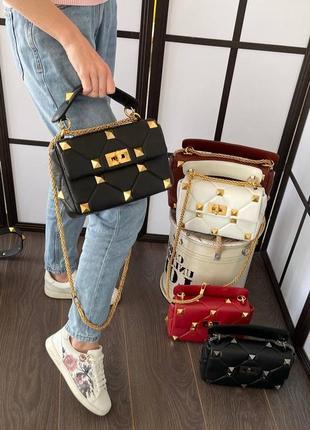 Фирменная женская кожаная сумка