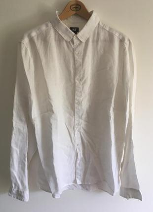 Льняна (100% лён) рубашка h&m. l размер.