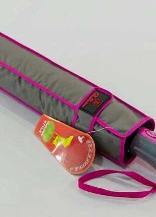 Зонт полуавтомат серый, антиветер.