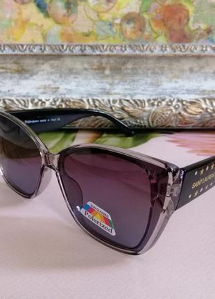 Эксклюзивные брендовые солнцезащитные женские очки лисички 2021 с поляризацией