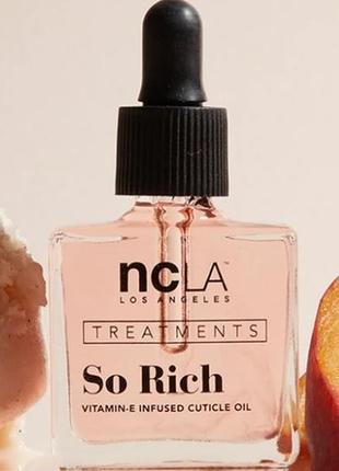 Масло для кутикулы ncla beauty so rich с ароматом peach vanilla 13.3 мл