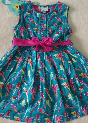 Платье uttam kids на 1, 5 - 2 года новое хлопок англия