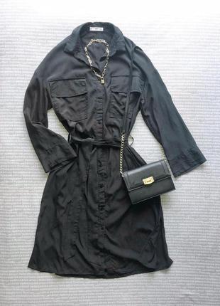 Платье рубашка миди черное mango купить цена