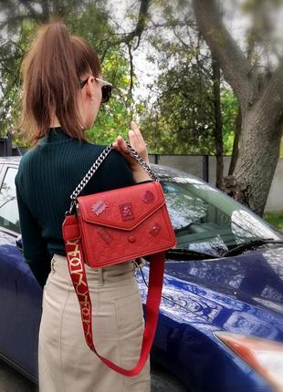 Сумка красная стильная3 фото
