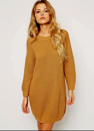 Базовый теплый удлиненный буклированный свитер размер 10-12 (42-48)