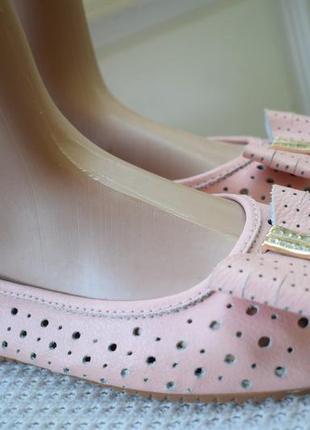 Кожаные туфли балетки лодочки р.9 р.42/43 27,5 см на широкую