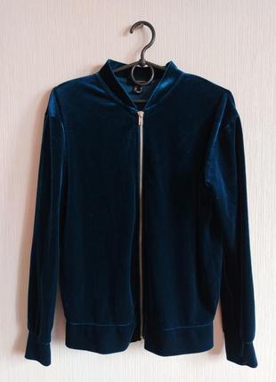 Трендовая кофта синего цвета