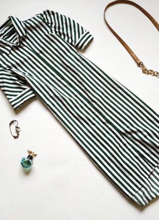Платье-рубашка в полоску zara