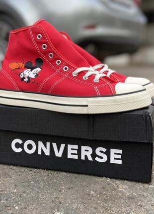 Кеды converse high red