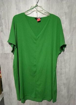 Платье-футболка из жатки