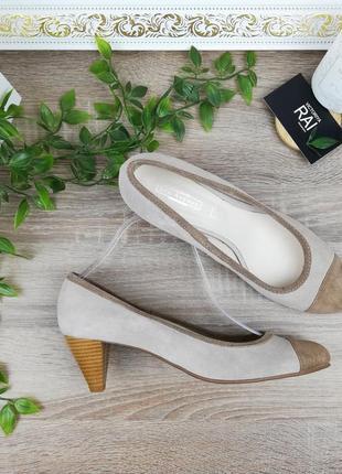 41🌿европа🇪🇺 5th avenue. замша. красивые туфли на удобном каблучке
