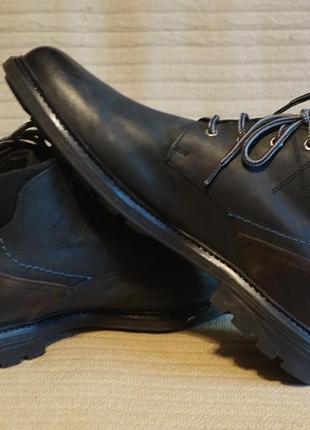 Отличные формальные комбинированные кожаные ботинки frank walker сша 45 р.