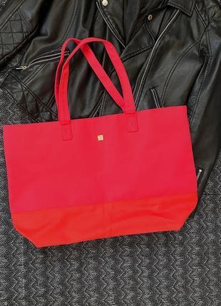 Оригинальная вместительная текстильная сумка шоппер lancôme