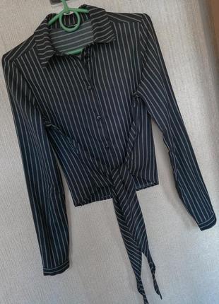 Сорочка, рубашка в полоску, длинный рукав. tally weijl