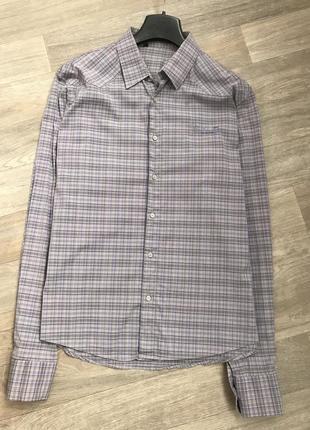 Мужская рубашка в мелкую клетку 1+1=3