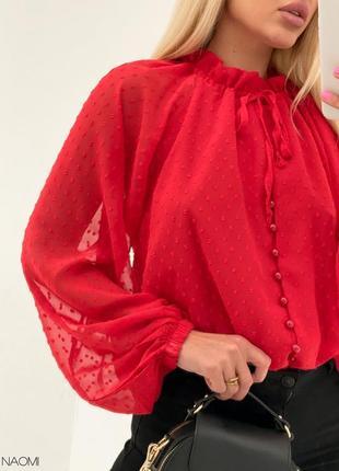 Женская шифоновая шикарная блуза