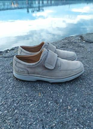 Мужские туфли clarks нубуковые