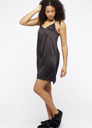Атласное платье комбинация puma