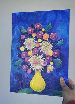 Картина, живопись, натюрморт, цветы