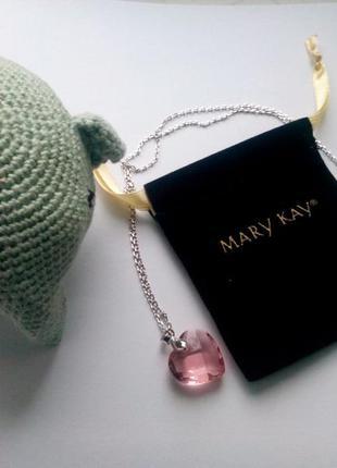Подвеска - кулон розовое сердце от mary kay, мери кей