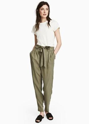Стильные брюки с высокой посадкой h&m