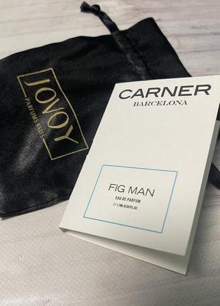 Парфюмированная вода carner fig man оригинал 1,7 мл