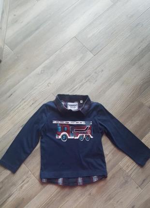 Кофта рубашка 104см