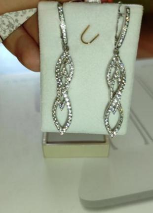 Сережки срібні з фіанітами серьги серебрчные с фианитами