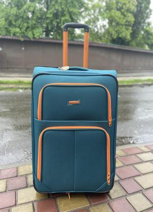 Чемодан,валіза ,текстильный чемодан на 2 колеса,отличное качество,надёжный