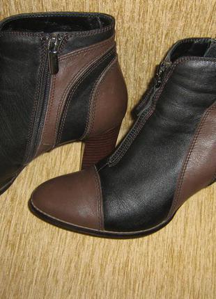 Итальянские кожаные полусапожки ботинки