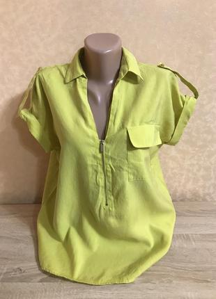 Яркий лимонный блузон
