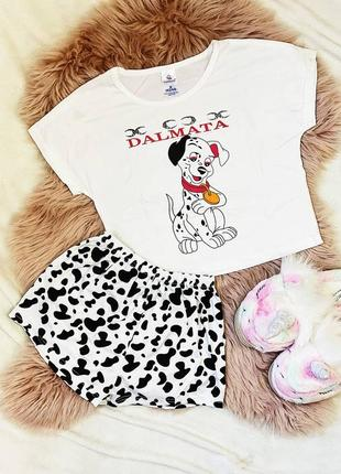 Пижама трикотаж далматинец
