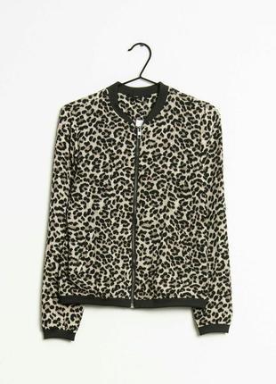 Бомбер жакет куртка в леопардовый хищный принт на молнии