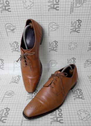 Adolfo carli италия туфли кожа светло-коричневые 42 р 28 см1 фото