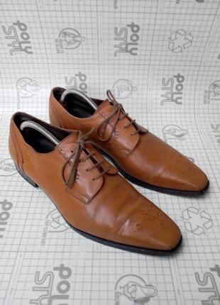 Adolfo carli италия туфли кожа светло-коричневые 42 р 28 см2 фото