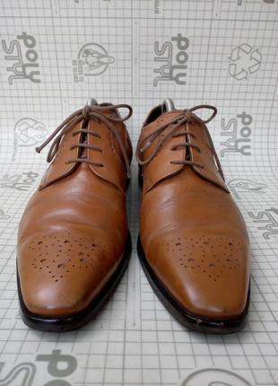 Adolfo carli италия туфли кожа светло-коричневые 42 р 28 см3 фото